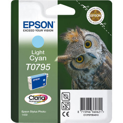 Epson Owl Singlepack Light Cyan T0795 Claria Photographic Ink C13T07954010