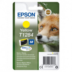 Epson Fox Singlepack Yellow T1284 DURABrite Ultra Ink C13T12844012