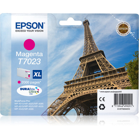 Epson Eiffel Tower Série WP4000/4500 Tinteiro XL Magenta C13T7023 2k C13T70234010