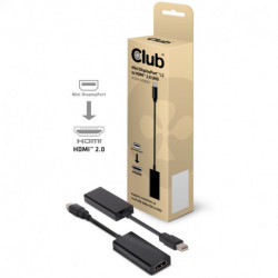 CLUB3D Mini Displayport™ 1.2 to HDMI™ 2.0 UHD Active Adapter CAC-1170
