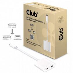 CLUB3D USB 3.1 Tipo C a Mini DisplayPort 1.2 y PD 60W Adapter CAC-1509