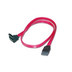 ASSMANN Electronic 2x SATA 7-pin, 0.5 m cable de SATA 0,5 m Negro, Rojo LP9034