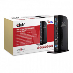 CLUB3D USB 3.0 Dual Display 4K60Hz Docking Station CSV-1460