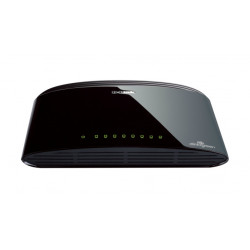D-Link DES-1008D Unmanaged Fast Ethernet (10/100) Schwarz
