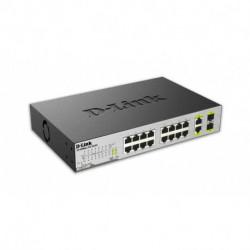 D-Link DES-1018MP Netzwerk-Switch Unmanaged Fast Ethernet (10/100) Schwarz Power over Ethernet (PoE)