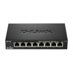 D-Link DES-108 switch di rete Non gestito Fast Ethernet (10/100) Nero
