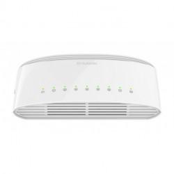 D-Link DGS-1008D/E comutador de rede Não-gerido Gigabit Ethernet (10/100/1000) Branco