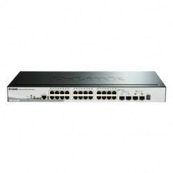 D-Link DGS-1510-28P comutador de rede Gerido L3 Gigabit Ethernet (10/100/1000) Preto Apoio Power over Ethernet (PoE)