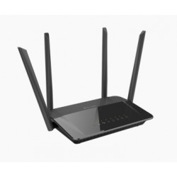 D-Link AC1200 Dual Band router sem fios Dual-band (2,4 GHz / 5 GHz) Gigabit Ethernet Preto DIR-842