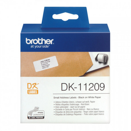 Brother DK-11209 etiquetadora Preto sobre branco DK11209