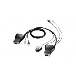 D-Link DKVM-222 cable para video, teclado y ratón (kvm) 1,8 m Negro