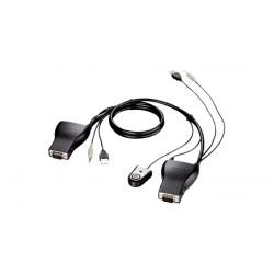 D-Link DKVM-222 Tastatur/Video/Maus (KVM)-Kabel 1,8 m Schwarz