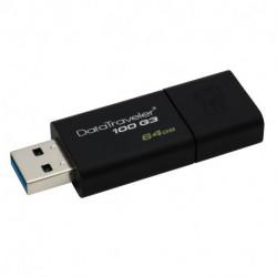 Kingston Technology DataTraveler 100 G3 unidad flash USB 64 GB USB tipo A 3.0 (3.1 Gen 1) Negro DT100G3/64GB