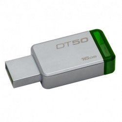 Kingston Technology DataTraveler 50 16GB USB-Stick USB Typ-A 3.0 (3.1 Gen 1) Grün, Silber DT50/16GB