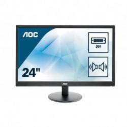 AOC Basic-line E2470SWDA LED display 59,9 cm (23.6) 1920 x 1080 pixels Full HD Mat Noir