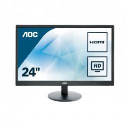 AOC Basic-line E2470SWH LED display 59,9 cm (23.6) 1920 x 1080 Pixeles Full HD LCD Plana Mate Negro