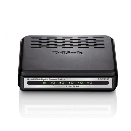 D-Link GO-SW-5G switch di rete Non gestito Nero