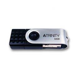 Patriot Memory Trinity 3in1 lecteur USB flash 64 Go USB Type-A / USB Type-C / Micro-USB 3.0 (3.1 Gen 1) Noir, PEF64GTRI3USB