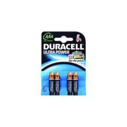 Duracell Ultra Power AAA 4 Pack Batteria monouso Mini Stilo AAA Alcalino MX2400B4