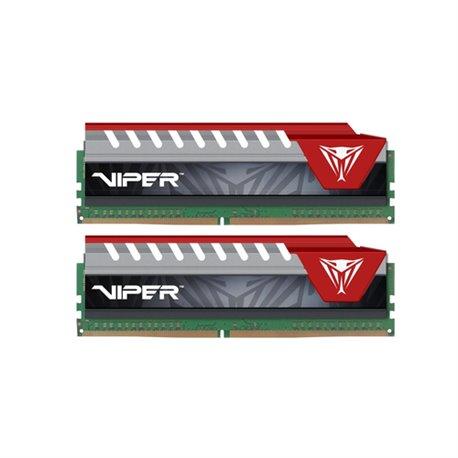 PATRIOT RAM VIPER ELITE DIMM 16GB (2X8GB DC) DDR4 2400MHZ RED PVE416G240C5KRD