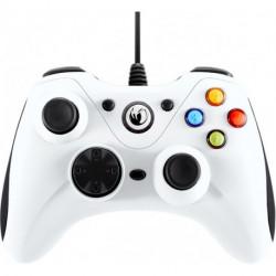 NACON PCGC-100WHITE mando y volante Gamepad PC Analógico USB Blanco