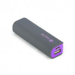 NGS PowerPump 2200 Grape banque d'alimentation électrique Gris, Violet Lithium-Ion (Li-Ion) 2200 mAh POWERPUMP2200GRAPE