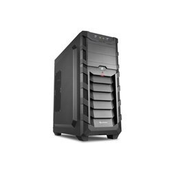 SHARKOON CASE ATX, 2XUSB3, 7 SLOTS, 2X120 LED FRONT 1X120 REAR, WINDOW METAL PANEL, BLACK SKILLER SGC1