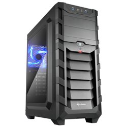 SHARKOON CASE ATX, 2XUSB3, 7 SLOTS, 2X120 LED FRONT 1X120 REAR, WINDOW ACRILIC, BLACK SKILLER SGC1 WINDOW