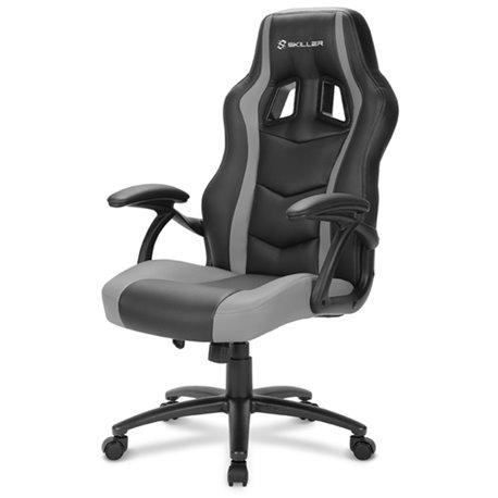 Sharkoon SKILLER SGS1 Cadeira de jogos para PC Assento acolchoado Preto, Cinzento SKILLER SGS1 BK/GY