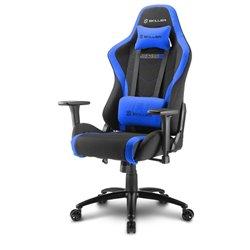 Sharkoon SKILLER SGS2 Cadeira de jogos para PC Assento acolchoado Preto, Azul SKILLER SGS2 BK/BL