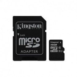 Kingston Technology Canvas Select memory card 16 GB MicroSDHC Class 10 UHS-I SDCS/16GB