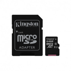 Kingston Technology Canvas Select mémoire flash 64 Go MicroSDXC Classe 10 UHS-I SDCS/64GB