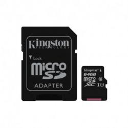 Kingston Technology Canvas Select memory card 64 GB MicroSDXC Class 10 UHS-I SDCS/64GB