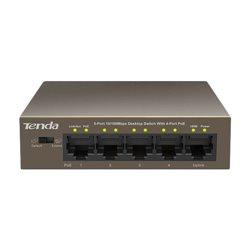 Tenda TEF1105P commutateur réseau Géré Fast Ethernet (10/100) Marron Connexion Ethernet, supportant l'alimentation via ce port (