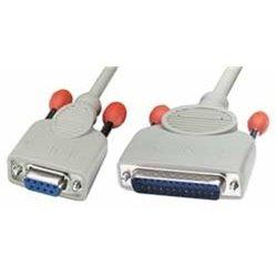 Lindy 9-pin serial printer cable 2m cabo de impressora Cinzento 30293