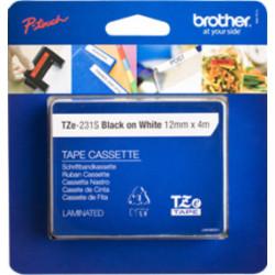 Brother TZE-231S ruban d'étiquette Noir sur blanc TZE231S