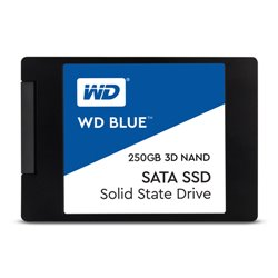 "WESTERN DIGITAL SSD BLUE 250GB 2,5"" 7MM SATA 6GB/S 550 MB/S READ 525 MB/S WRITE WDS250G2B0A"