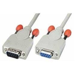 Lindy Serial Extension Cable, 2m cabo de série Cinzento 31519