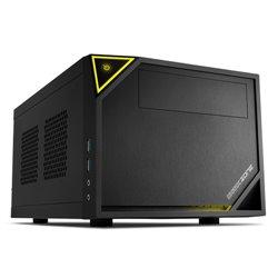 """SHARKOON CASE MINI-ITX, 2 SLOT, 37 X 22.5 X 18.0 CM , USB 3.0, USB 2.0, 1X 120 MM FAN (PRE-INSTALLED), DRIVE BAYS 2,5""""- ZONE C10"""