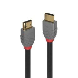 LINDY CAVO HDMI HIGH SPEED ANTHRA LINE 1MT SUPPORTA RISOLUZIONE UHD FINO A 4K 36962