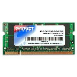 Patriot Memory DDR2 2GB CL5 PC2-6400 (800MHz) SODIMM Speichermodul PSD22G8002S