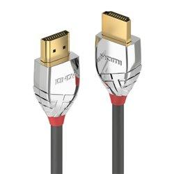 Lindy 37870 cabo HDMI 0,5 m HDMI tipo A (padrão) Preto, Prateado