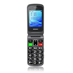 "Brondi AMICO FLIP PLUS 6,1 cm (2.4"") 82 g Preto Telefone digital 10273610"