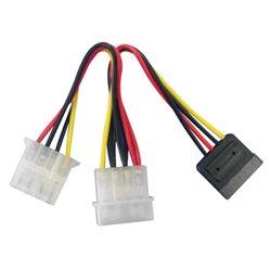 "Lindy SATA/5.25"" Power Adapter Splitter Cable, 0.15m Stromkabel Mehrfarbig 0,15 m 33289"