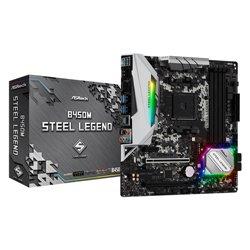 ASROCK MB AMD B450M STEEL LEGEND 4DDR4 2 PCI-E X16 M2 HDMI MATX