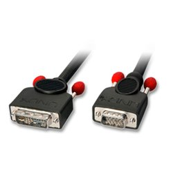 Lindy 41196 câble vidéo et adaptateur 2 m DVI-I VGA (D-Sub) Noir