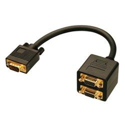 Lindy VGA Splitter Cable cable VGA 0,18 m VGA (D-Sub) Negro 41214