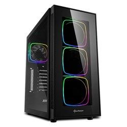 "SHARKOON CASE TG6 RGB, ATX, 7 SLOTS EXPANSION, 3 USB 3.0, 2 USB 2.0, DRIVE BAY DA 2,5""/3,5"""