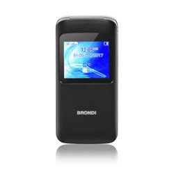 "BRONDI CELLULARE WINDOW DUAL SIM GSM QUAD BAND 1,77"" A COLORI 1,3MP RADIO FM BLUETOOTH SLOT MICRO SD - COLORE NERO 10273960"