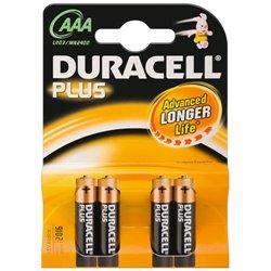 DURACELL BATTERIA PLUS POWER ALCALINA AAA 1,5V NON RICARICABILE